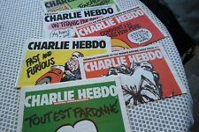 CHARLIE HEBDO - N° 1178  - Edition Mercredi 14 janvier 2015 + 5 NUMEROS AVRIL