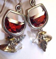 Silpada Designer Sterling Silver Wine Glass Earrings