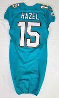 #15 Matt Hazel of Miami Dolphins NFL Locker Room Game Issued Jersey