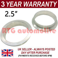 "V-BAND CLAMP STAINLESS STEEL EXHAUST TURBO HOSE REPLACEMENT FLANGES 2.5"" 63.5mm"