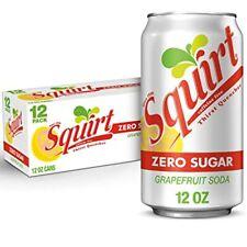 Squirt Zero Sugar Grapefruit Soda 12 Can Pack