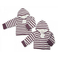 Baby Girls Knitted Hooded Coat/Jacket Newborn/0-3/3-6 months Lilac/White Babys