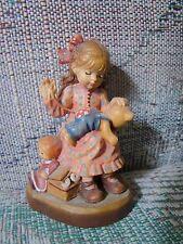 "Anri Sarah Kay Good As New Wood Carved 4"" Figurine Limited Ed # 1521 of 4000"