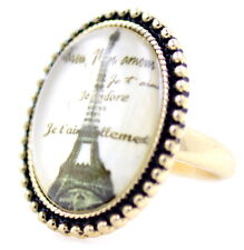 Retrò Vintage Stile Resina TORRE EIFFEL anello, UK taglia Q