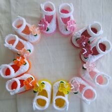 0-6 month old baby girl crochet booties.