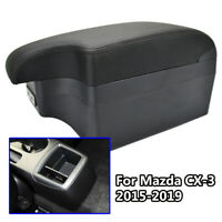 Car Leather New Styling Console For Mazda CX-3 2015-2019 USB Armrest 2017
