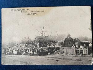 HONINGHAM and East Tuddenham village Primary School near East Dereham 1906
