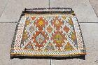Stunning Antique Jajim Kilim Bag Rug Anatolian Collector's Piece Kilim Bag Rug