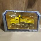 Rare PEM Tonkin 1/64 yellow KENWORTH T800 4 axle dump truck dcp first gear