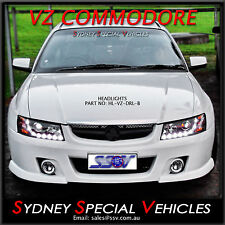 BLACK DRL HEADLIGHTS FOR VZ COMMODORE SS SV6 SV8 CALAIS  HSV - PROJECTOR LED