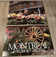 """Piedmont Airlines Montreal Poster 24"""" x 36"""""""