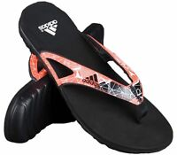 Men's Adidas Calo 5 Graphic Flip Flops Black/Solar Red