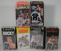 U CHOOSE FUNKO VHS T-SHIRT BEETLEJUICE ROCKY BLOODSPORT FAST X ROBOCOP ANIMAL