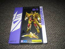 Transformers MP Masterpiece Tru Exclusive Sunstorm with box near complete