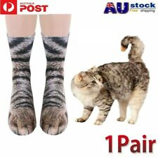 Unisex Adults Funny Socks Animal Cat Paws Feet 3D Print Stockings Novelty Gift