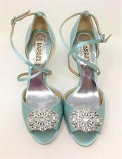 Badgley Mischka Satin D'orsay Open Toe Heel in Color Mint Size: 7 US