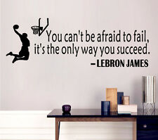 """Removable """"YOU CAN'T BE AFRAID TO FAIL"""" Wall Sticker Mural Decal Room Decor"""