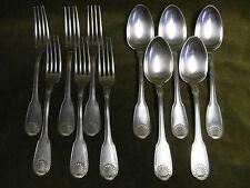 5 couverts de table métal argenté christofle vendome (christofle spoons, forks)