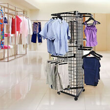 Display Grid Rack 3 Panel Triangle Rolling Metal Retail Wall Craft Show 6' Stand