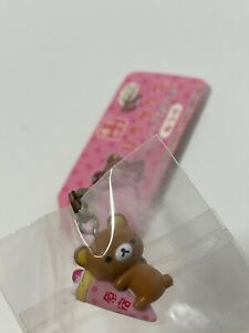 Rilakkuma Crepe Tokyo TEDDY BEAR Charm Strap Japan Keychain Kawaii Vintage