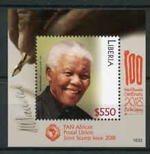 Liberia 2018 MNH Nelson Mandela PAPU Joint Issue 1v S/S Famous People Stamps