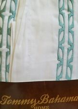 New Tommy Bahama Fiji Coast Blue Embroidered Tropical Euro Pillow Sham