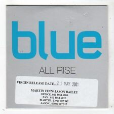 (FY598) Blue, All Rise - 2001 DJ CD