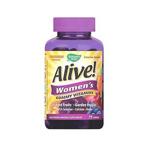 Natures Way Alive! Women's Gummy Vitamins 75 Gummies - SALE