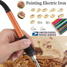 79Pcs Wood Burning Pyrography Pen Kit Stencil Soldering Tips Tools Welding Craft