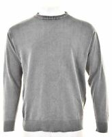 MARLBORO CLASSICS Mens Crew Neck Jumper Sweater XL Grey Cotton KJ05