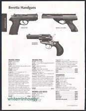 2008 BERETTA PX4, U22 NEOS Pistol, Stampede Marshall Revolver AD