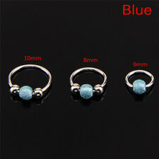 Stainless Steel Nose Ring Beads Nostril Hoop Nose Earring Piercing Jewelry