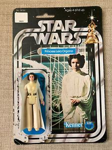 Star Wars Princess Leia Figure Gun 12 Back Card Vintage Kenner 1977 1 Owner