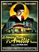 Amelie FRIDGE MAGNET 6x8 Audrey Tautou French Cinema Movie Poster Canvas Print