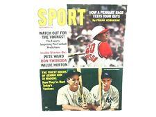 September 1965 Sport Magazine Lou Gehrig, Di Maggio and Robinson Ex. cond.
