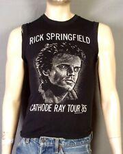 vtg 80s Rick Springfield 1985 Cathode Ray Tour Muscle T-Shirt Sleeveless sz S