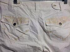 Womens White EDC by Esprite Pleated Sea Shell Shorts Size 40 EUC