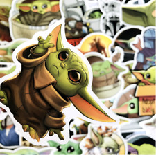 50 PCS Baby Yoda Stickers - for Hydro Flasks, Laptops, Skateboard - USA SELLER!