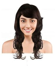 Adult Fashion Long Curly Dark Brown Super Model Wig Cosplay Party Hair HW-283A