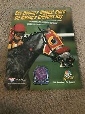 Vintage 1998 BREEDERS' CUP HORSE RACING NBC Poster Print Ad AWESOME AGAIN RARE