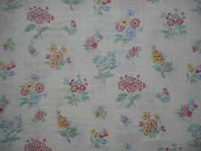 Pretty unused vintage soft sheer cotton floral fabric - 1.1M lengths, flowers