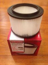 Craftsman 9-17810 shop vac 1 PCS filter 3/4 gal vacuum Washable Pleated Paper