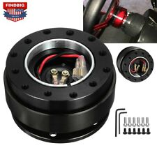 Universal Car Steering Wheel Quick Release Hub Adapter Off Kit Black Aluminum