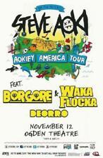 STEVE AOKI BORGORE WAKA FLOCKA DENVER 2013 CONCERT POSTER OGDEN ELECTRONICA DUB