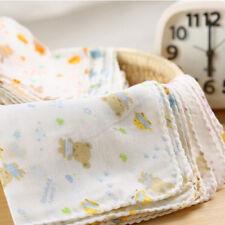 10Pcs Baby Infant Newborn Soft Washcloth Bath Towel Feeding Wipe Cloth F&F