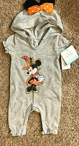 Minnie Mouse Baby Girl Halloween Bodysuit Sparkly Size 0 3 Month