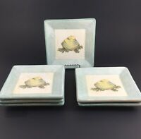 Williams Sonoma Verano Tile Italy Pottery CLAM Appetizer Tapas Plates SET OF 6