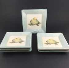 Williams Sonoma Verano Tile Italy Pottery CLAM Appetizer Tapas Plates SET OF 6