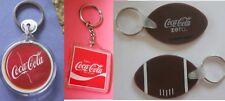 Coca-Cola Zero (Shaped Like a Football) & 2 other Lot of 3 New Coke Key Chain