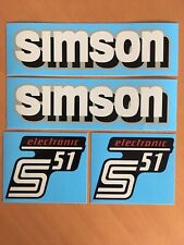 Set Simson Wasserabziehbilder Abziehbilder S51 electronic (Simson Rand grau)